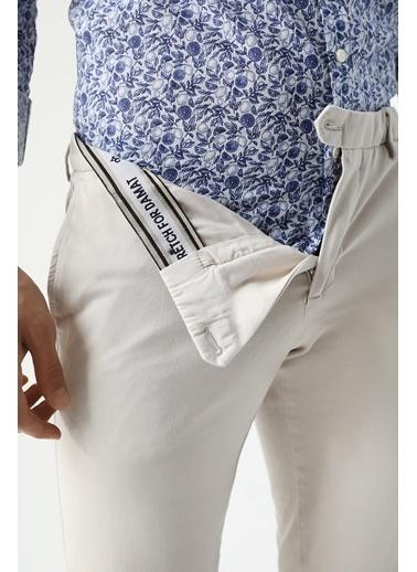 Damat Slim Fit Chino Pantolon Taş
